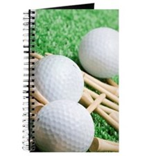 Golf balls and tees Journal