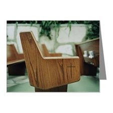 Empty pews in chapel Note Cards (Pk of 10)