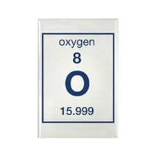 Oxygen Rectangle Magnet