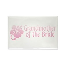 Hibiscus Grandmother of Bride Rectangle Magnet (10