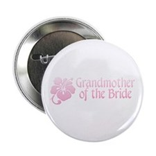 """Hibiscus Grandmother of Bride 2.25"""" Button (10 pac"""