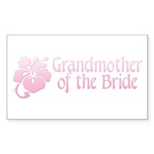 Hibiscus Grandmother of Bride Sticker (Rectangular