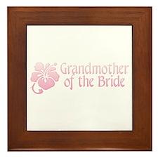 Hibiscus Grandmother of Bride Framed Tile
