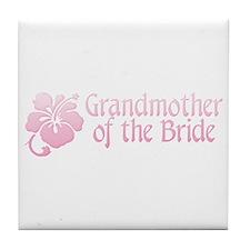 Hibiscus Grandmother of Bride Tile Coaster