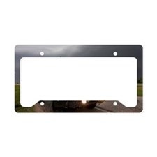 A storm chaser's armored vehi License Plate Holder