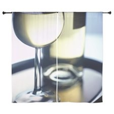 """close-up shot of a glass of wine and  60"""" Curtains"""