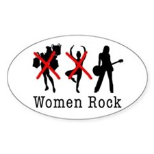 Women Rock Oval Decal