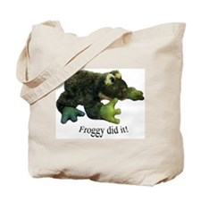 Froggy Did it! Tote Bag