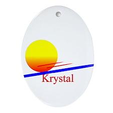 Krystal Oval Ornament