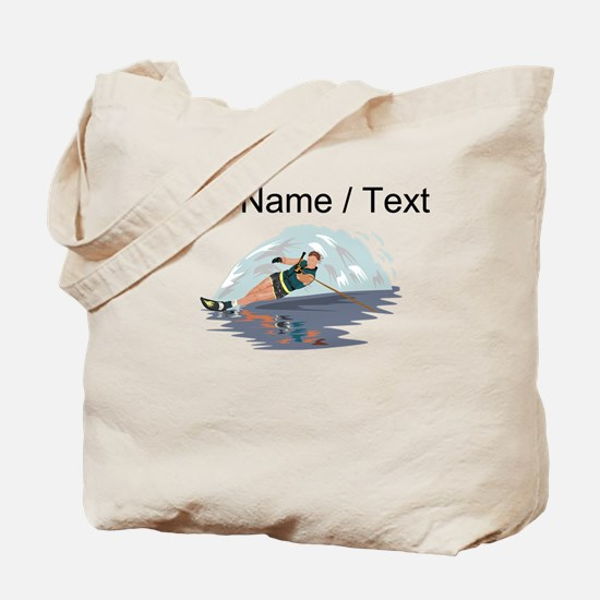 Custom Water Skiing Tote Bag