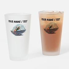 Custom Water Skiing Drinking Glass