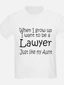WIGU Lawyer Aunt Kids T-Shirt
