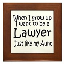 WIGU Lawyer Aunt Framed Tile