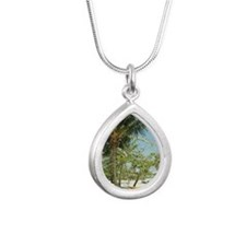 Puerto Rico, Vieques, ha Silver Teardrop Necklace