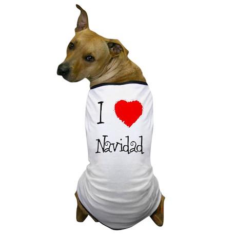 I Love Navidad Dog T-Shirt