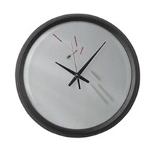 Acupuncture Needle Large Wall Clock