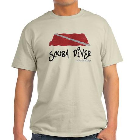 Scuba Diver Waves Light T-Shirt