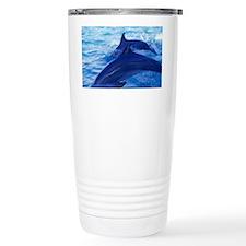 Dolphins Odontoceti leaping thr Travel Mug