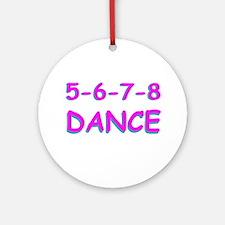 5-6-7-8 Dance Ornament (Round)