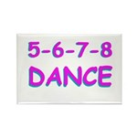 5-6-7-8 Dance Rectangle Magnet (10 pack)