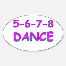 5-6-7-8 Dance Oval Decal
