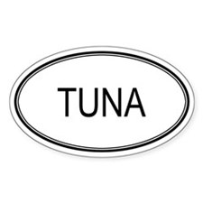 Oval Design: TUNA Oval Decal