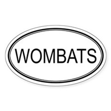 Oval Design: WOMBATS Oval Decal