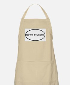 Oval Design: TUFTED TITMOUSES BBQ Apron