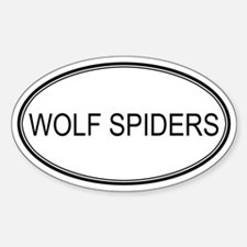 Oval Design: WOLF SPIDERS Oval Decal