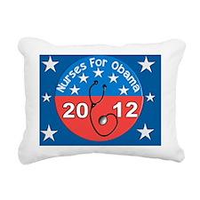 Nurses for Obama yard si Rectangular Canvas Pillow