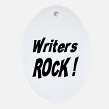 Writers Rock ! Oval Ornament
