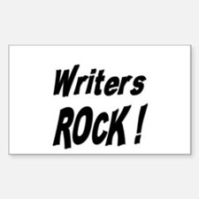 Writers Rock ! Rectangle Decal