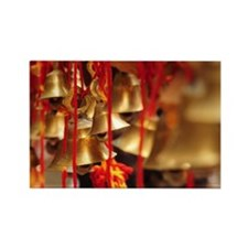 Brass bells from Hindu temple in  Rectangle Magnet
