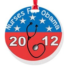 Nurses For Obama 2012 Ornament