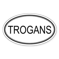 Oval Design: TROGANS Oval Decal