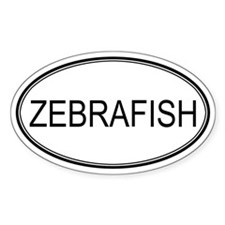 Oval Design: ZEBRAFISH Oval Decal