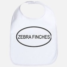 Oval Design: ZEBRA FINCHES Bib