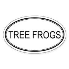 Oval Design: TREE FROGS Oval Decal
