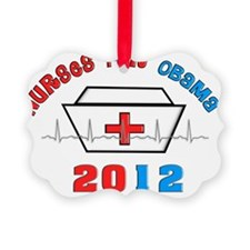 Nurses For Obama Ornament