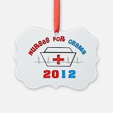 Nurses For Obama Ornament