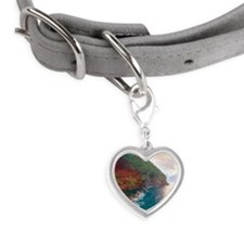 Sunrise at red sand beach in H Small Heart Pet Tag