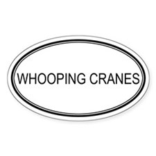 Oval Design: WHOOPING CRANES Oval Decal