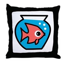 Fishbowl Throw Pillow
