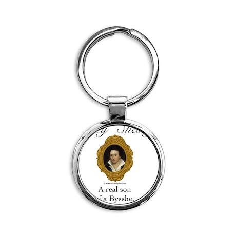 Percy Shelley Round Keychain