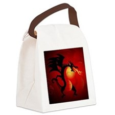 Funny dragon Canvas Lunch Bag