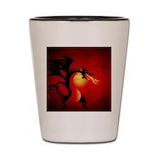 Funny dragon Shot Glass