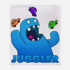 Monster juggler Throw Blanket