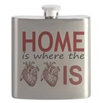 Home Is Where The Two Hearts Flask
