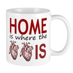 Home Is Where The Two Hearts Mugs