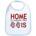 Home Is Where The Two Hearts Bib